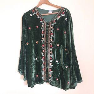 Geeta one size boho velvet tunic